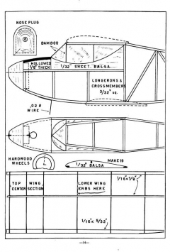 Bi-Sport model airplane plan