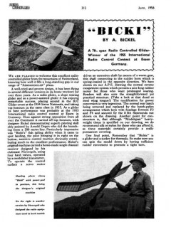 Bicki model airplane plan