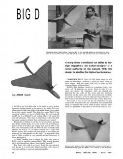Big-D model airplane plan