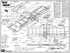 Big Iron Veco UC model airplane plan