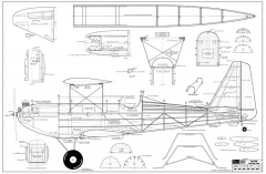 Big John OMT-RCM-03-67 206 model airplane plan