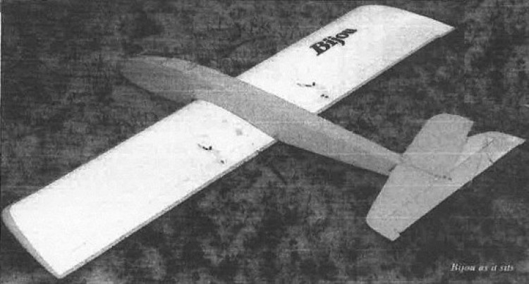 Bijou model airplane plan