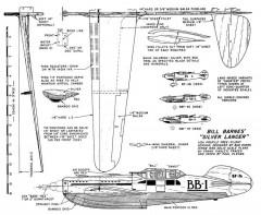 Bill Barns Silver Lancer model airplane plan