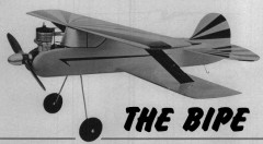 Bipe model airplane plan