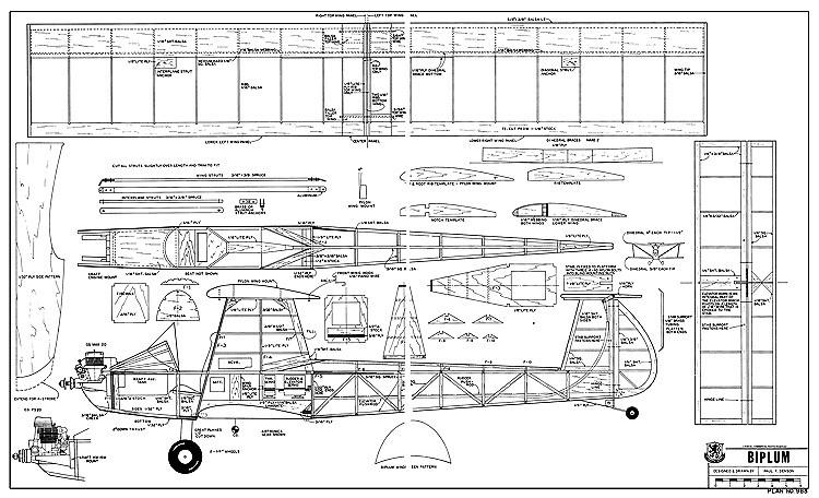 Biplum-RCM-983 model airplane plan