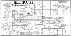 Bleriot XI model airplane plan