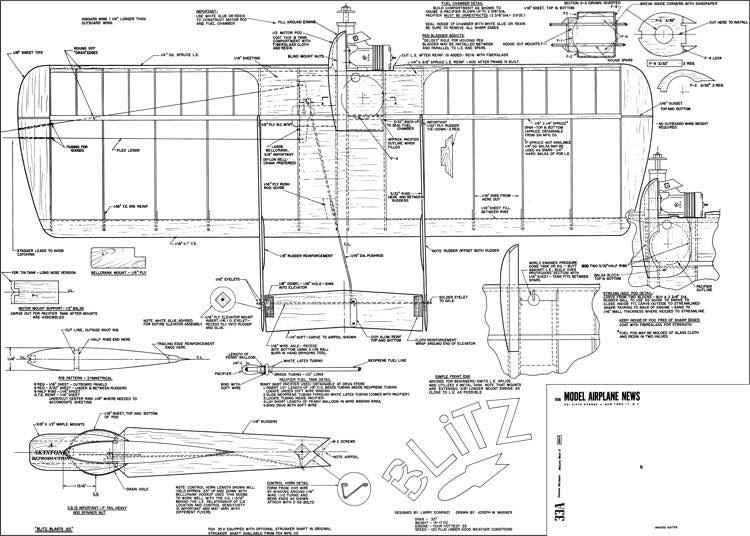 Blitz Combat model airplane plan