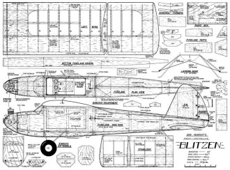 Blitzen 60in model airplane plan