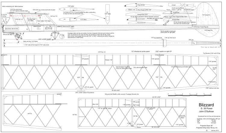 Blizzard model airplane plan