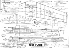 Blue Flame RC model airplane plan