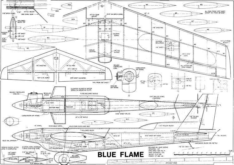 Blue Flame model airplane plan