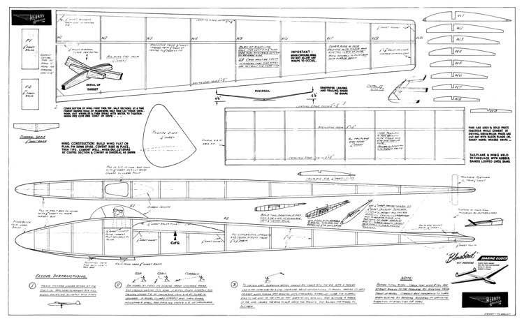 Bluebird glider model airplane plan
