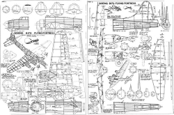 Boeing B-17G model airplane plan