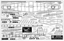 Boeing B-17 model airplane plan