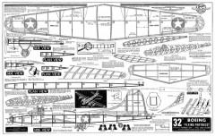 Boeing B-17 model airplane plan