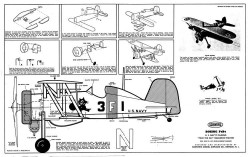 Boeing F4B4 model airplane plan