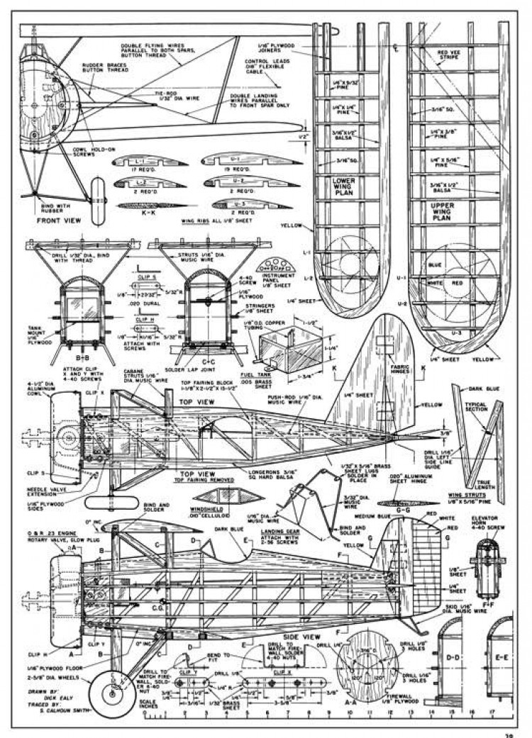 Boeing P-12C-AT-07-49 model airplane plan