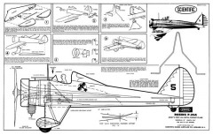 Boeing P-26A model airplane plan