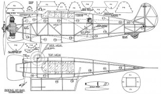 Boeing XP-940 model airplane plan