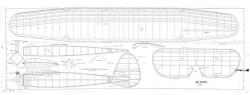 Bomber model airplane plan