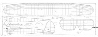 Bomber model airplane plan