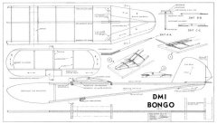 Bongo DMI glider model airplane plan