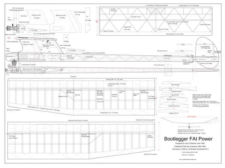 Bootlegger1964 model airplane plan