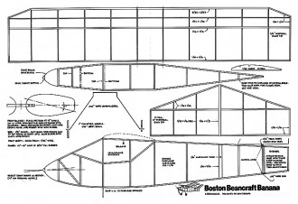 Boston Beancraft Banana 16in model airplane plan