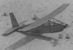 Boston Bullet model airplane plan