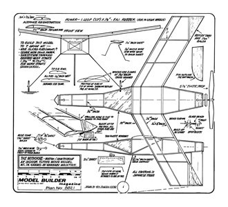 Bothorne model airplane plan