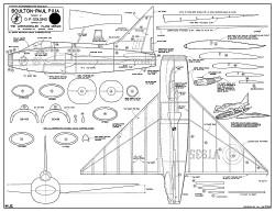 Boulton-Paul P-111A model airplane plan
