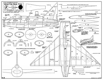 Boulton-Paul P-111A model airplane plan