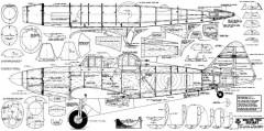 Boulton Paul Defiant 73in model airplane plan