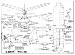 Bowden Mouse model airplane plan