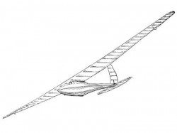 Bowlus model airplane plan