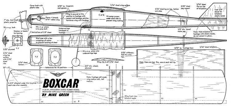 Boxcar model airplane plan