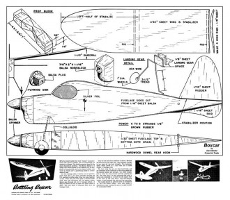 Battling Boxcar model airplane plan