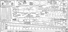 Breguet 901 model airplane plan