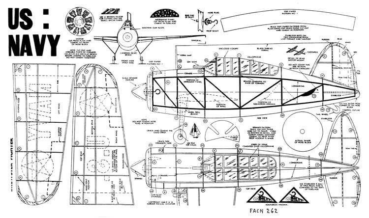 Brewster Buffalo 15in model airplane plan