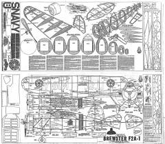 Brewster F2A-1 Buffalo model airplane plan