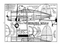 Brewster XF2A-1-MAN-10-38 model airplane plan