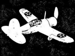 Brewster XF2A-1  model airplane plan