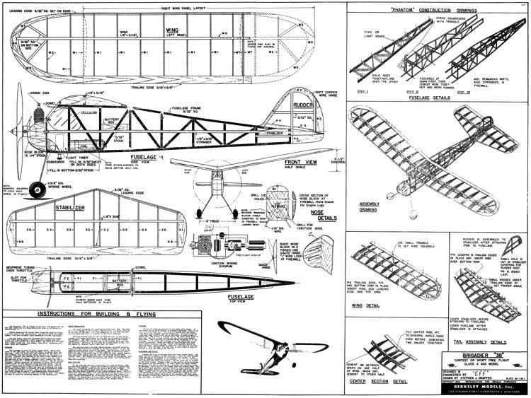 Brigadier 38 FF model airplane plan