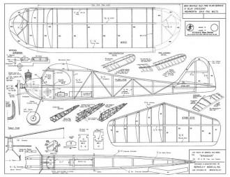 Brigidier model airplane plan
