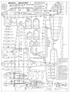 Bristol Beaufort model airplane plan