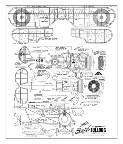 Bristol Bulldog model airplane plan