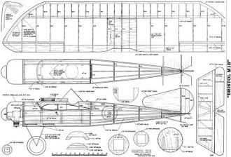 Bristol M1B RC model airplane plan