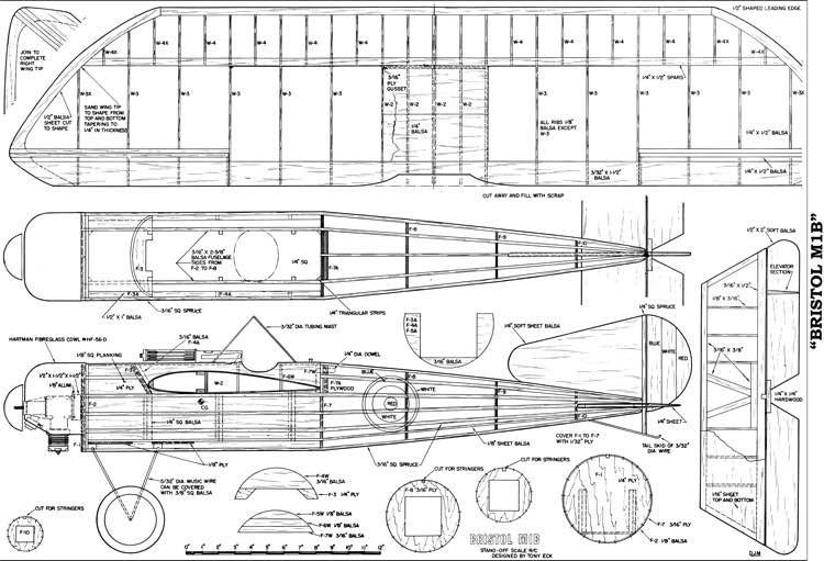 Bristol M1B RC model airplane plan