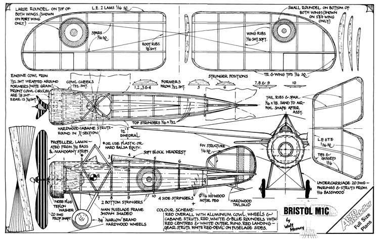 Bristol M1C model airplane plan