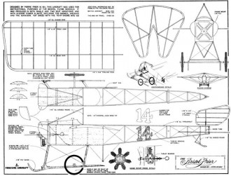 Bristol Prier model airplane plan